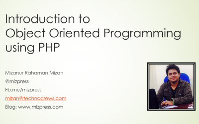Object Oriented Programming using PHP